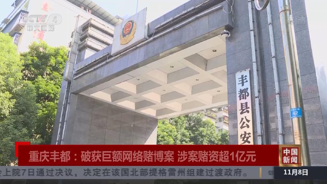 重慶:破獲巨額網絡賭博案 涉案賭資超1億元