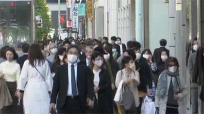 日本全國單日新增感染人數昨天創最高值