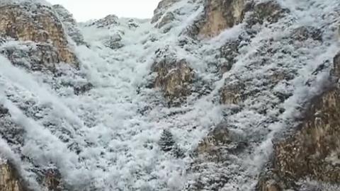 北京:延慶山區雪後銀裝素裹