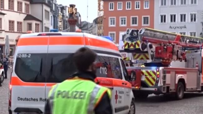 德國特裏爾市汽車衝入步行區 至少5人死亡