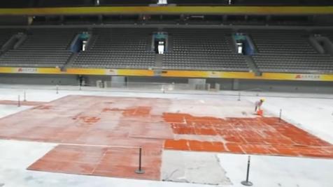 國家體育館改造工程完工 進入制冰階段