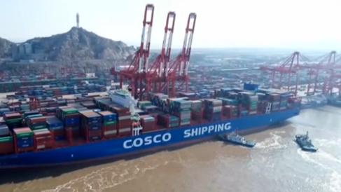 上海港集裝箱吞吐量突破4000萬標箱