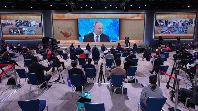 俄羅斯總統普京舉行年度記者會