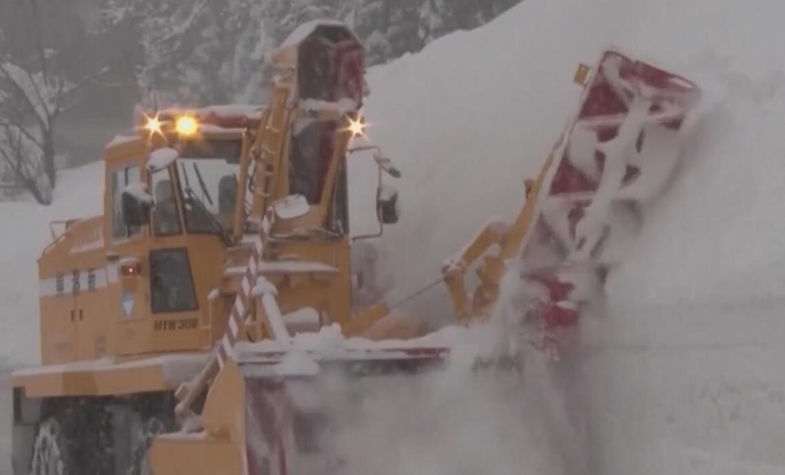 日本多地大雪 兩天內造成10人死亡