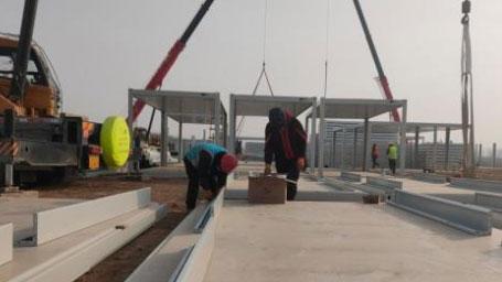 河北石家莊:新冠肺炎疫情防控——新建集中隔離點正在緊張施工