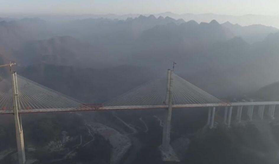 貴州:都安高速控制性工程雲霧大橋合龍