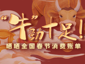 """""""牛""""勁十足!曬曬全國春節消費賬單"""