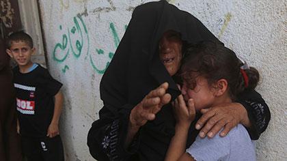 關注巴以衝突:加沙多處民用建築遭襲 居民生活舉步維艱