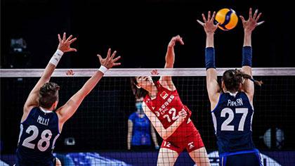 世界女排聯賽:中國女排輕取東道主意大利贏得四連勝