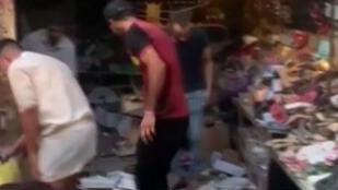 伊拉克:巴格達東郊一市場爆炸 35人死60多人傷