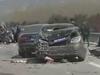 重型貨車高速路上撞上三十輛豪華婚車