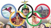 巴西:里约迎奥运五环 孩子们盼奥运到来图片