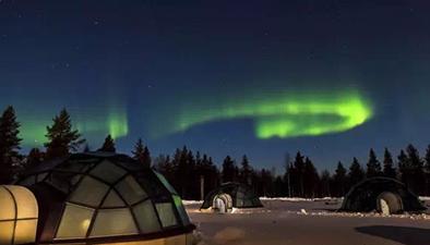 芬蘭:極光來了,我們叫你起床!