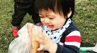 看著林志穎雙胞胎兒子吃面包 都要被萌化了