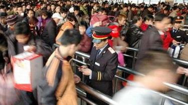 春運第三天 鐵路客流迅速攀升