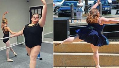 堅持芭蕾夢想 美國15歲胖女孩感動眾人