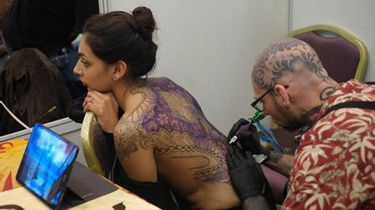 時尚!尼泊爾舉辦紋身大會 現場最佳作品展示