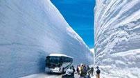 """震撼!日本""""雪墻""""奇觀部分開通"""