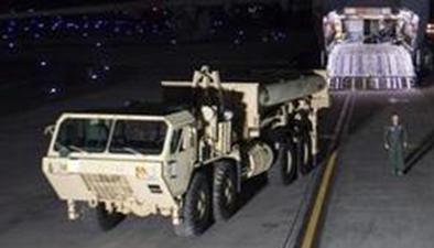 """韓國民眾再次阻攔""""薩德""""部署地施工車輛"""