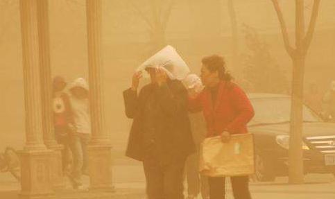 我國北方遭遇大風沙塵天氣