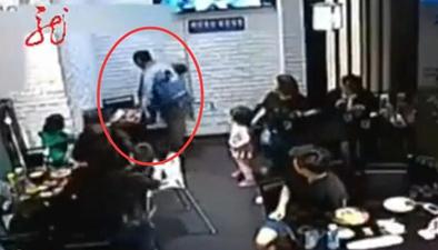 """大連:4歲女童飯店內捉迷藏 鄰座女子踹椅子""""管教""""孩子"""