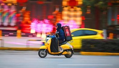 上海:外賣送餐員記分管理 記滿12分必須離崗