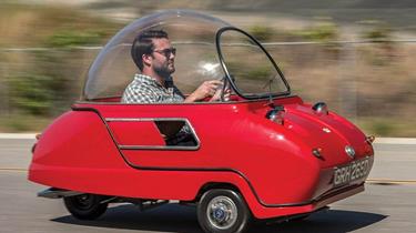 世界最小汽車將被拍賣 外形似飛碟