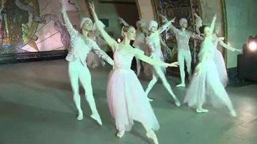 """俄地鐵站上演""""芭蕾之夜"""""""