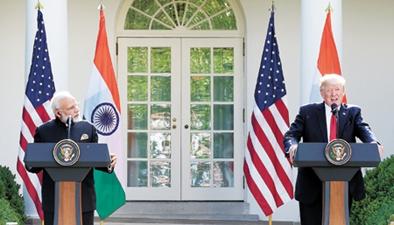 美印首腦會晤 特朗普敦促印放松對美貿易限制