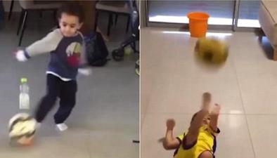 以色列男童大秀足球技巧走紅網絡