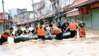 中國南方多地暴雨成災