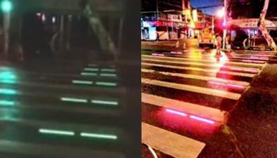 武漢:會閃光變色的人行橫道亮相