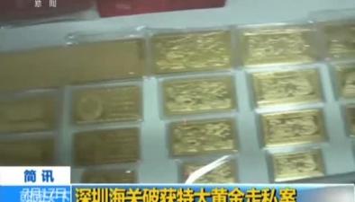 深圳海關破獲特大黃金走私案