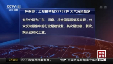 環保部:上月接舉報55782件  大氣污染最多_中國新聞_央視國際高清