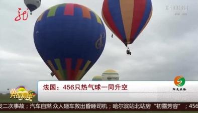 法國:456只熱氣球一同升空