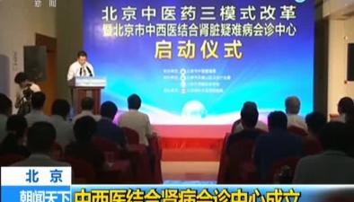 北京:中西醫結合腎病會診中心成立