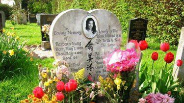 離世32年 翁美玲心形墓碑返港困難重重