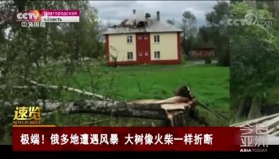 極端!俄多地遭遇風暴 大樹像火柴一樣折斷