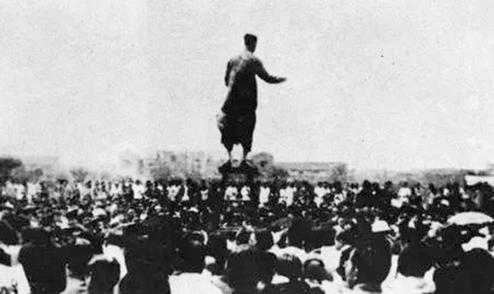1936年6月7日,劉良模指揮上海幾千名群眾高唱《義勇軍進行曲》