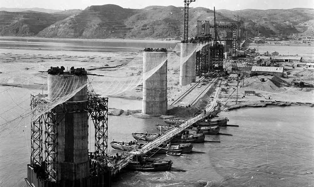 黃河大橋施工全景