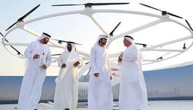 """迪拜將推出""""空中的士"""" 王儲體驗原型機"""