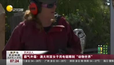 """澳大利亞女子用電鋸雕刻""""動物世界"""""""