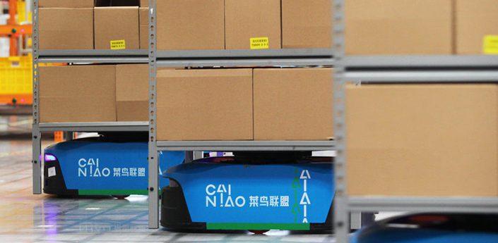 菜鳥首啟機器人倉庫:上百臺機器人日均發貨百萬件