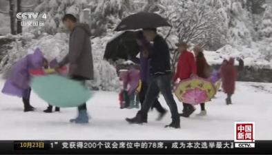 四川阿壩:畢棚溝普降大雪 景區銀裝素裹
