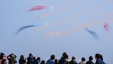 湖北武漢:世界飛行者大會 特技飛行表演