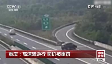 重慶:高速路逆行 司機被重罰