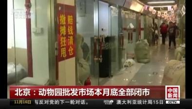 北京:動物園批發市場本月底全部閉市