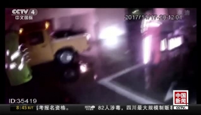 江蘇宿遷:貨車跑掉兩輪胎 後車撞上險側翻