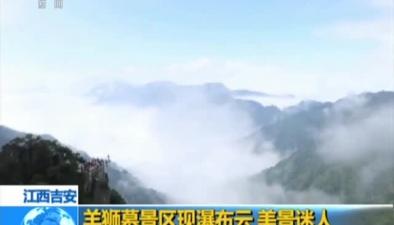 江西吉安:羊獅幕景區現瀑布雲 美景迷人