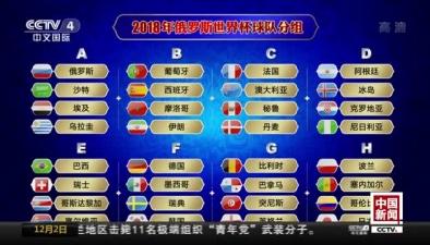 俄羅斯世界杯32強分組抽簽結果揭曉